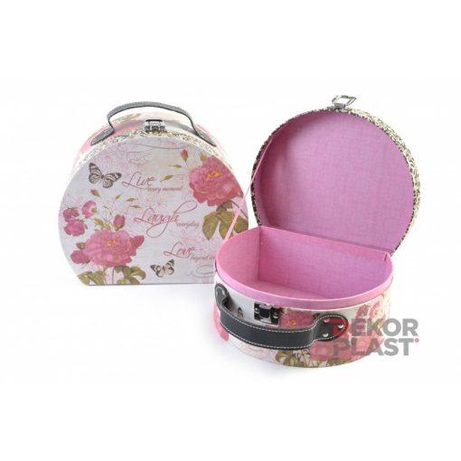 Papírbőrönd rózsás 2db (rózsaszín)